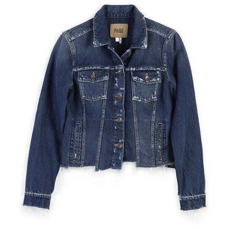 PAIGE Rowan Jacket - Felix Distressed Uneven Hem ($249)