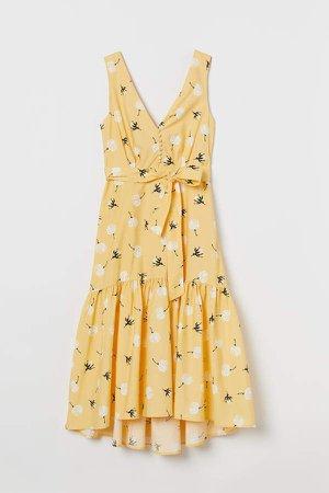 V-neck Dress - Yellow