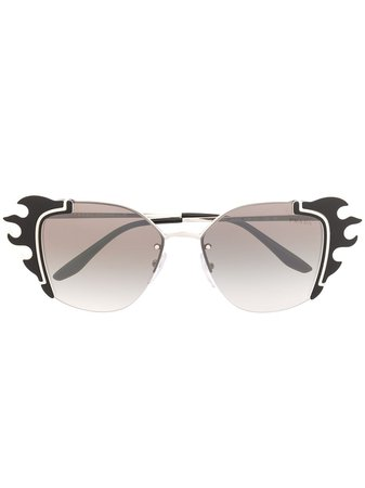 Prada Eyewear Ornate Sunglasses - Farfetch