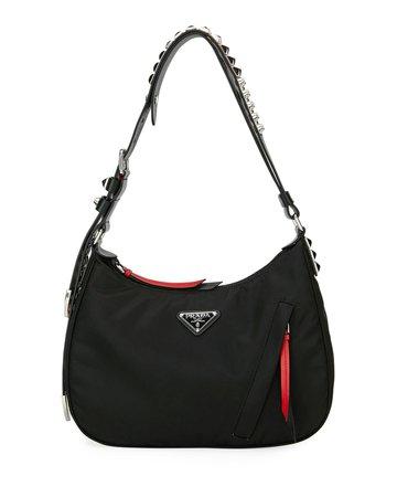Prada Prada Black Nylon Shoulder Bag