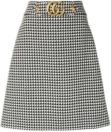GG logo A-line skirt