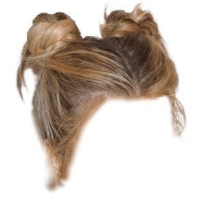 blonde hair png space buns