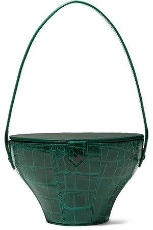STAUD | Alice croc-effect leather tote | NET-A-PORTER.COM