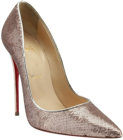 So Kate Ecru Glitter Heels