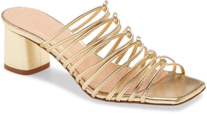 Pearl Strappy Slide Sandal