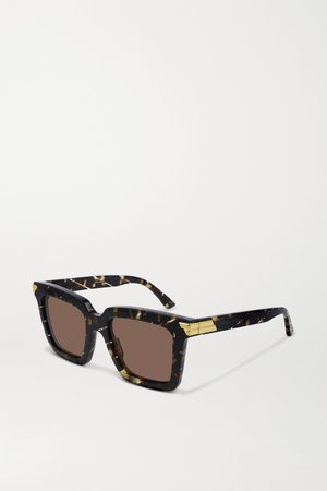 Tortoiseshell Oversized square-frame acetate sunglasses | Bottega Veneta | NET-A-PORTER