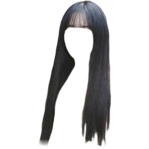 Black Bangs Hair PNG