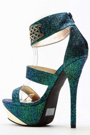 Mermaid Luxe Gold Accent Platform Heels @ Cicihot Heel Shoes online store sales:Stiletto Heel Shoes,High Heel Pumps,Womens High Heel Shoes,Prom Shoes,Summer Shoes,Spring Shoes,Spool Heel,Womens Dress Shoes