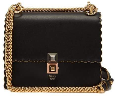 Kan I Small Leather Cross Body Bag - Womens - Black