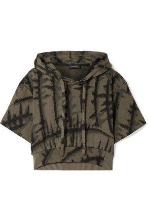 TWENTY Montréal   Hyper Reality cropped tie-dyed cotton-blend jacquard hoodie   NET-A-PORTER.COM