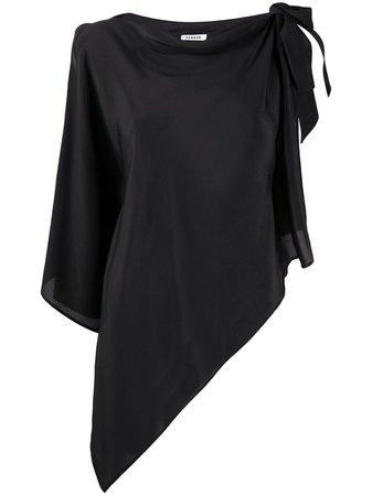 P.A.R.O.S.H. Asymmetric Silk Blouse - Farfetch