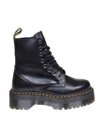 Dr. Martens Dr. Martens Dr.martens Anfibio Jadon In Black Leather - Black - 11117514 | italist