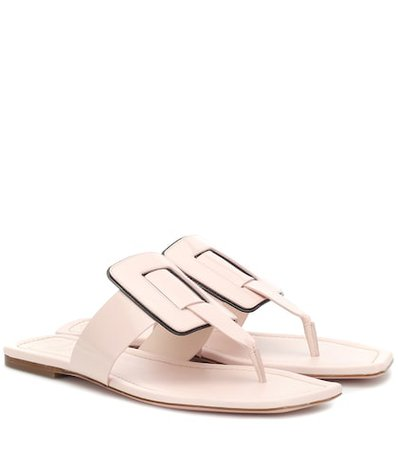Viv' Sellier leather thong sandals