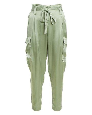 L'Agence Roxy Silk Paperbag Cargo Pants   INTERMIX®