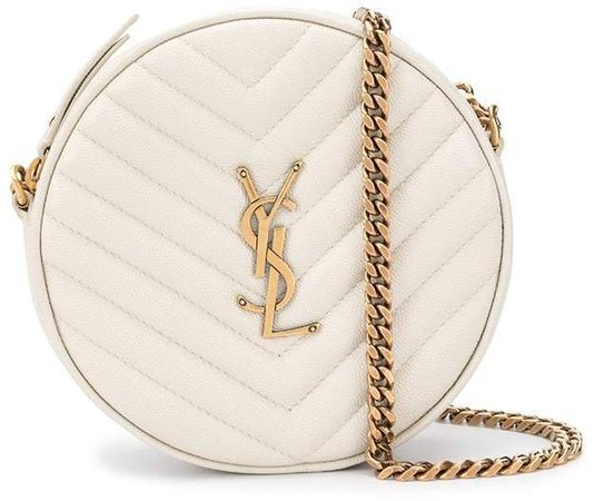 monogram plaque round crossbody bag
