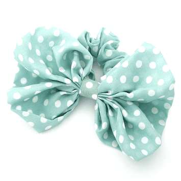 Mint Bow Hair Scrunchies uploaded by Shine on We Heart It