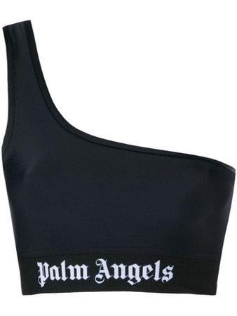 Palm Angels One Shoulder Cropped Top | Farfetch.com