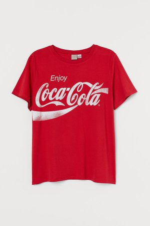 H&M+ Printed T-shirt - Red