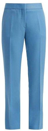 Summa - Straight Leg Wool Trousers - Womens - Light Blue
