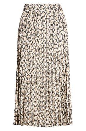 All in Favor Snake Print Pleated Skirt   Nordstrom