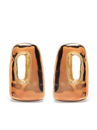 Marni large rectangular earrings - FARFETCH
