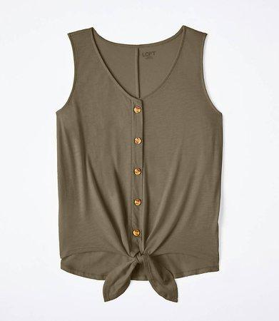 Button Tie Hem Tank