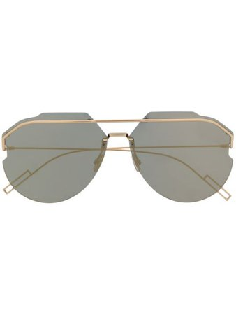 Dior Eyewear AnDiorid Mirrored Aviator Sunglasses - Farfetch
