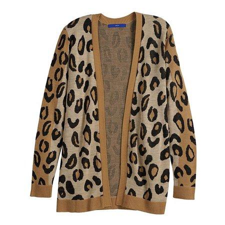 Women's Apt. 9® Cheetah Print Cardigan