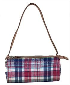 Tommy Hilfiger Small Red White and Blue Plaid Bag