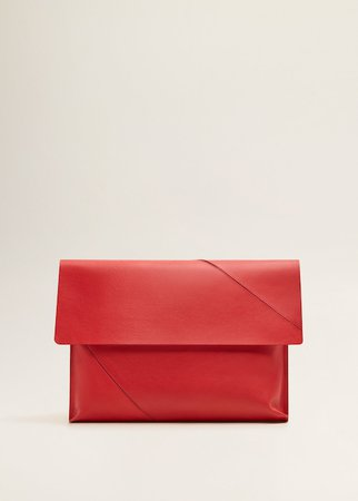 Leather envelope bag - Women | MANGO USA