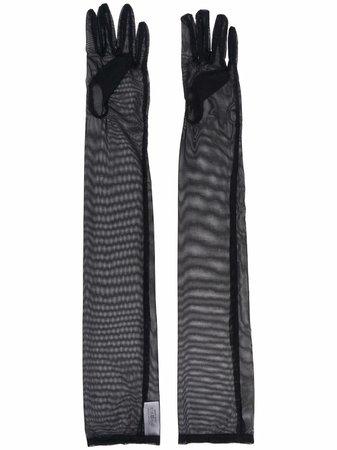 Simone Wild elbow-length Sheer Gloves - Farfetch