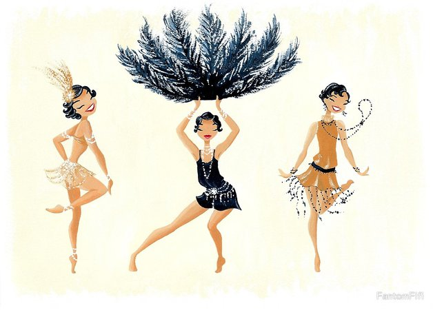 drawing with flapper girl dancing - Google Search