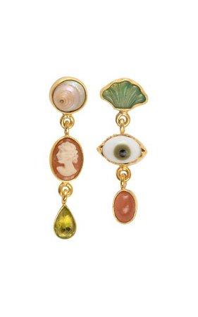Three Charm Drop Earrings By Grainne Morton   Moda Operandi