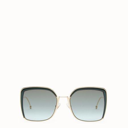 Gold-color sunglasses - F IS FENDI | Fendi