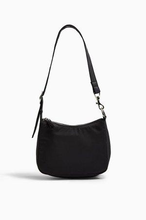 SAFF Black Nylon Buckle Shoulder Bag | Topshop
