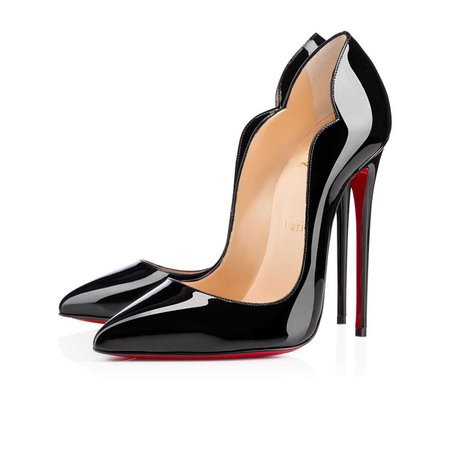 Hot Chick 130 Black Patent - Women Shoes - Christian Louboutin