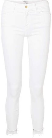 Le Skinny De Jeanne Raw Stagger Mid-rise Jeans - White