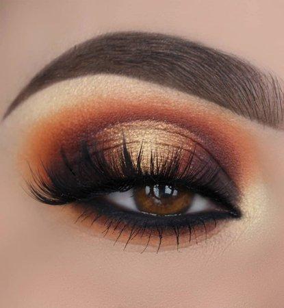 Burnt Orange/Brown Eye Makeup