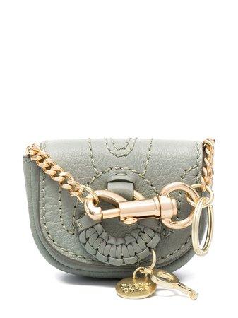 See by Chloé Hana chain-strap wallet green CHS21SK622977 - Farfetch