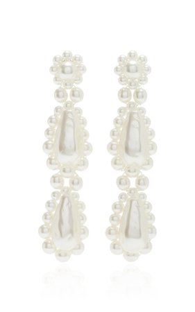 Resin Pearl Drop Earrings By Simone Rocha | Moda Operandi