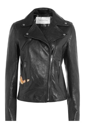 Leather Jacket with Stud Embellishment Gr. IT 44