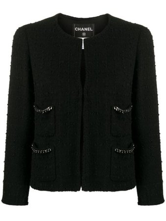 Chanel Pre-Owned 2010s Textured Collarless Jacket - Farfetch