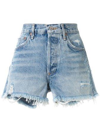 AGOLDE Swap Meet Distressed Shorts - Farfetch
