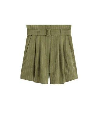 MANGO Stripes print shorts
