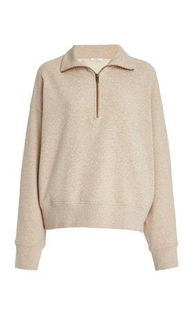 Half-Zip Cotton-Knit Sweatshirt By Vince | Moda Operandi