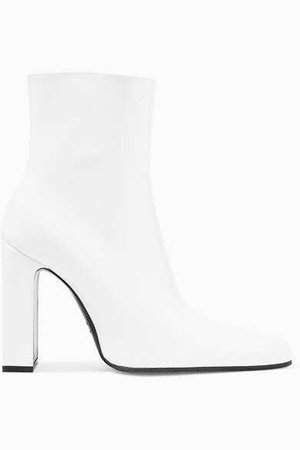 Balenciaga - Leather Ankle Boots - White