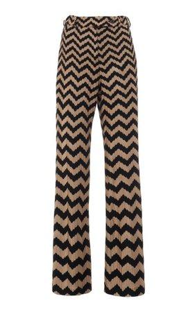Zig-Zag Stretch-Wool Straight-Leg Pants By Missoni   Moda Operandi