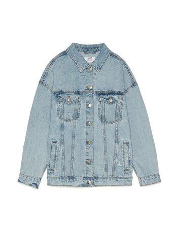 Oversized denim jacket - New - Bershka United States