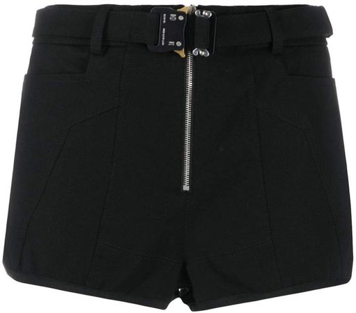 buckled fitted shorts