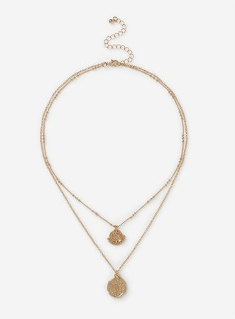 Layered Coin Necklace | Dorothy Perkins gold